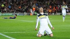 Fernando Torres jásá po vstřelení gólu v zápase Chelsea-FC Barcelona (2:2)